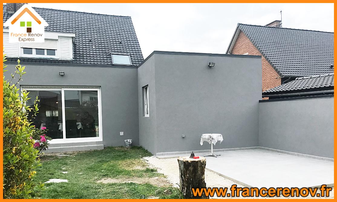Extension ossature-bois 50m² à Douai