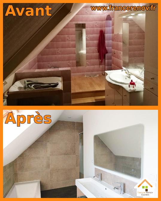 Rénovation complète de salle de bains à Avelin