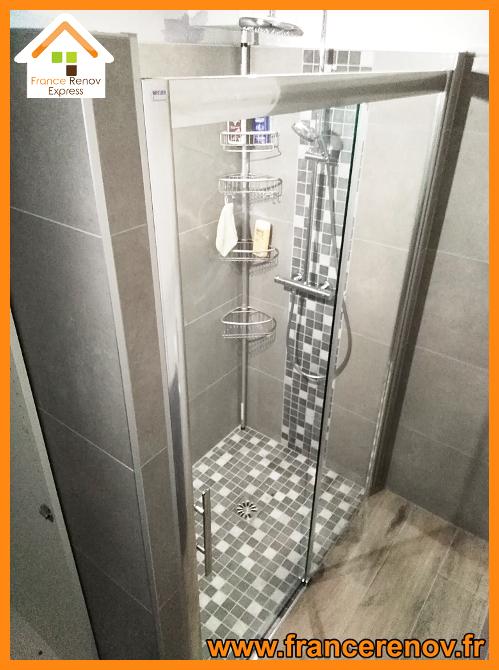 Rénovation de salle de bain avec douche à l\' italienne à ...